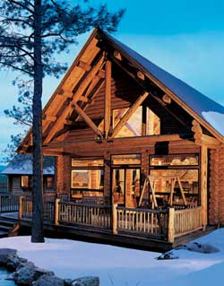2005 January Log Home Living Cover