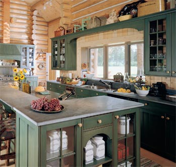 30 money saving tips for kitchens on a budget for Log home kitchen ideas