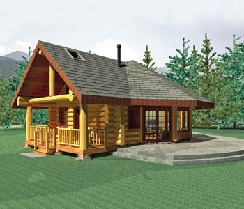 Small log homes design contest 5 aspen meadow by summit for Www loghome com