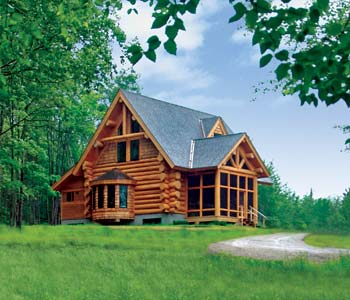 Captivating Small Log Homes Design Contest | #2 Camp Dancing Bear By Beaver Creek Log  Homes Part 10