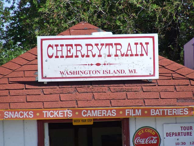 Cherry Train Station | Washington Island, WI