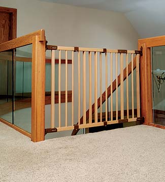 Charming Childproof Gate | Childproofing A Log Home