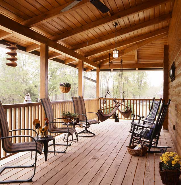Photos of a South Carolina Log Home | Coming Home Again on Large Back Porch Ideas id=71032