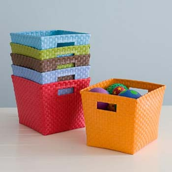 Colored Woven Baskets