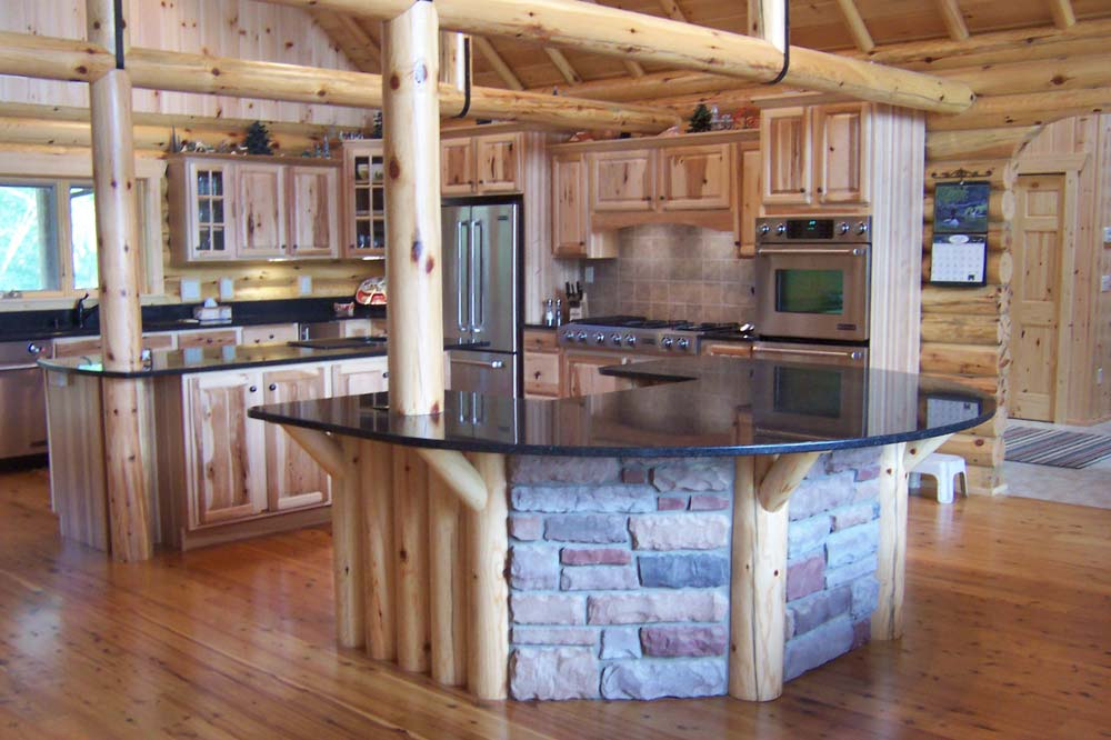 Log Home Kitchen Pictures Log Cabin Kitchens Traditional Kitchen