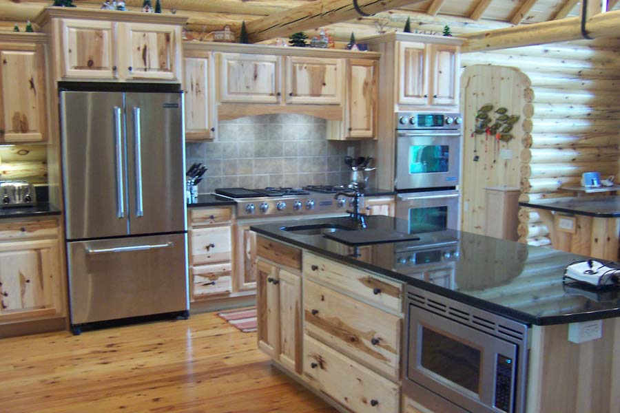 Log Kitchen Cabin Pinterest
