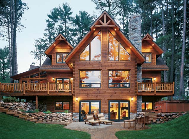 Wisconsin Custom Built Log Home Strongwood Log Homes