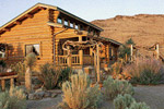 desert log home