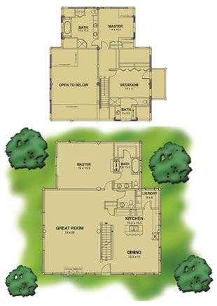 log home plan