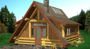 Eisenhower small log home