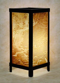 waterfall lamp