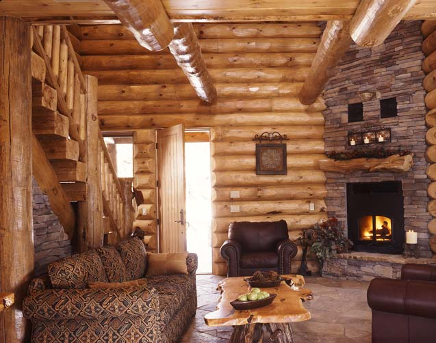 cabin in the woods, golden eagle log homes