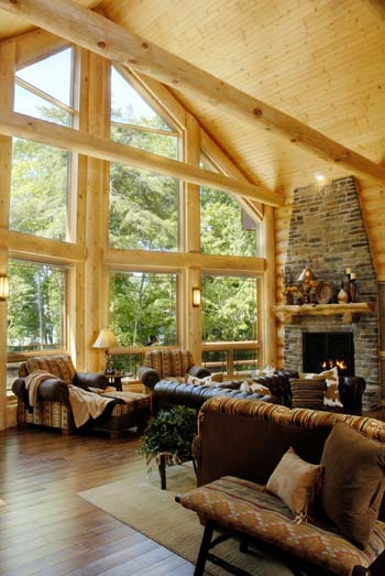 How to re design your log home interior for Interior designs great rooms