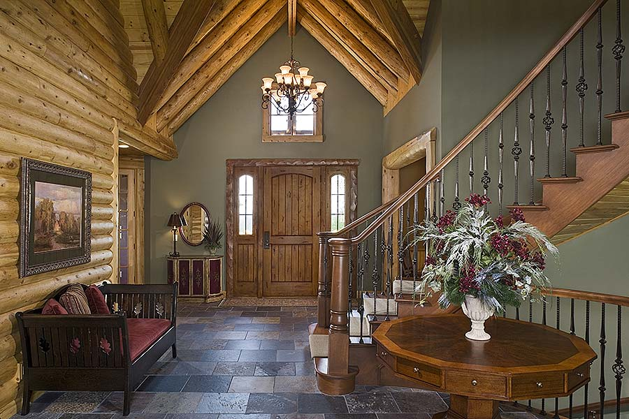 Runner Up Best Log Home Staircase Design Town Country Cedar Homes