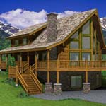 The Hillside | Yellowstone Log Homes