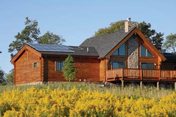 Alta Log Home's LEED certified Greenbriar design | eOne media photo/Alta Log Homes