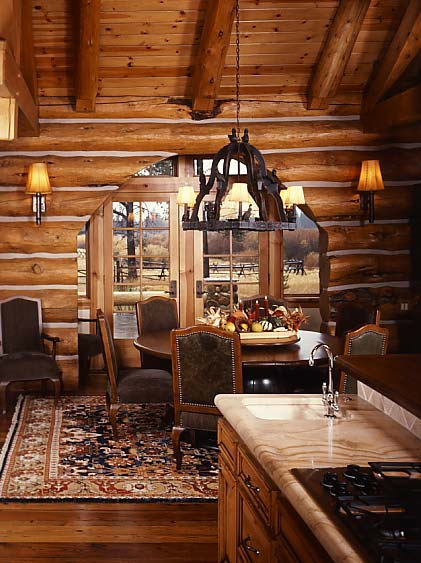 Lights in a Log Home