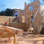 Log Home Construction Site