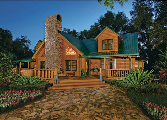 Custom Log Home by Suwannee River Log Homes
