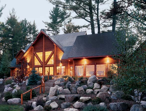 Luxury Log Home in Chicago | Golden Eagle Log Homes