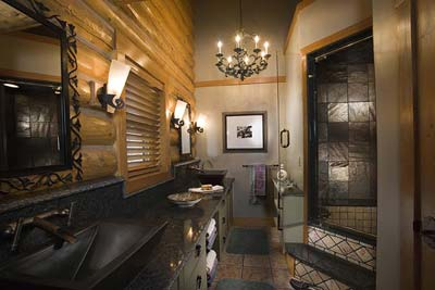 Luxury Bathroom Suite | Rocky Mountain Log Homes