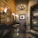 Rocky Mountain Log Homes | Creative Bathroom Suite