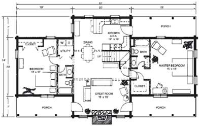 Wood work log cabin blueprints free pdf plans for Free online log cabin floor plans