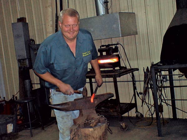 Blacksmith Michael Leggett at Work