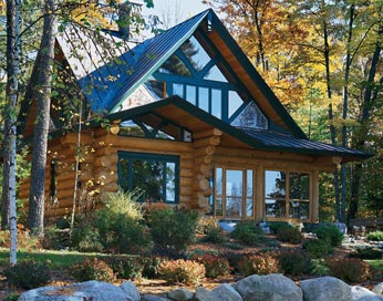 mountain chalet log home