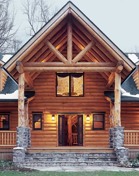 ohio log home, real log homes