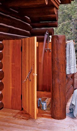 outdoor cabin shower