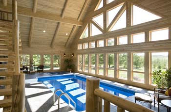 Log Home Swimming Pool