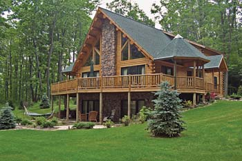 Overlook Hennessy Log Home