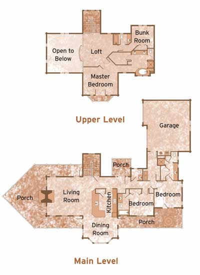 EAGLE'S NEST by Precision Craft Log & Timber Homes Floorplans