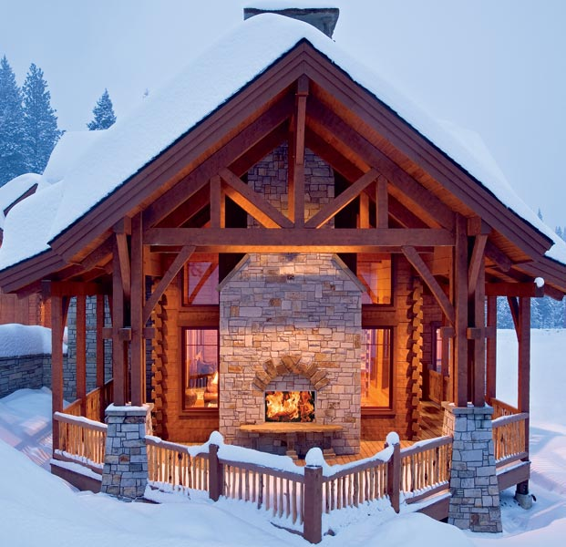 Ordinaire An Idaho Log And Timber Beauty Showcases An Innovative Design That Blends  This Ski Lodge Seamlessly Into The Rugged Mountain Landscape.