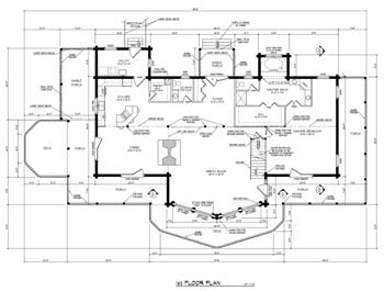 Barna Log Homes | Log Home Plan