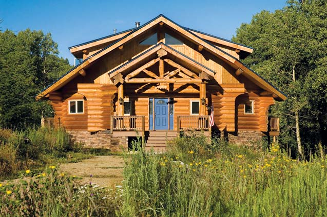 Small Handcrafted Log Home