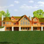 Sunset Harbor | Strongwood Log Home Company