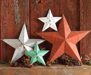 Salvaged Tin Stars | Clare's Wares | Decor Made From Tin - LogHome.
