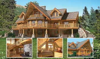 The Log Connection Bavarian Dream Log Home