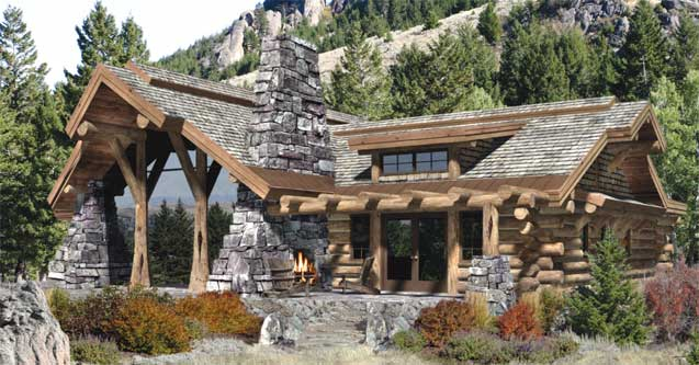 the caribou log home by precisioncraft log timber homes