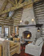 Custom Log Homes Hearth