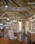 Custom Log Homes Dining Area