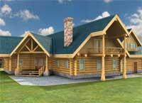 Log Homes Canada Dreams Front Exterior