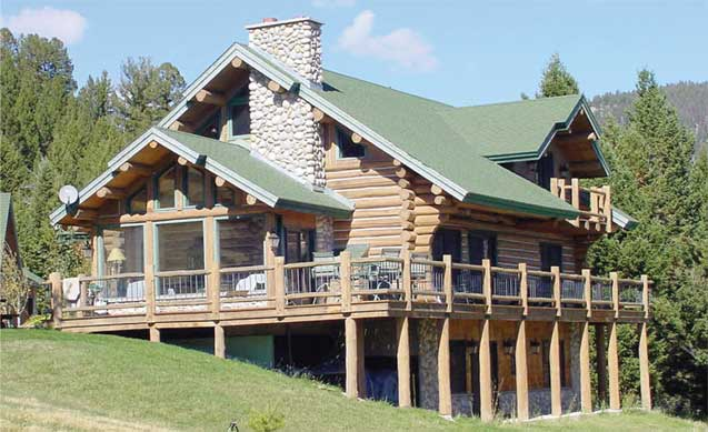 Frontier Log Homes - The Shoshone
