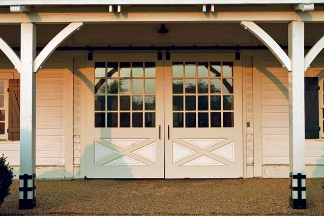 Firehouse style garage door