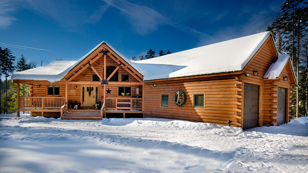 A Vermont Log Home Celebrates The Holidays