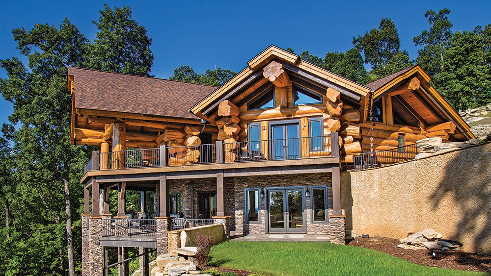 Take a Look at This North Carolina Log Home