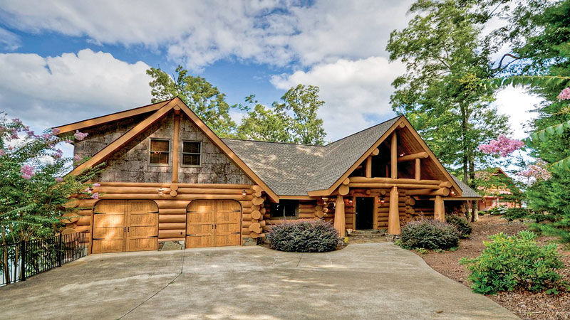 good large log cabin homes #10: The Integrity, by Log Homes Canada, lives up to its name. Built with  western red cedar logs averaging a hefty 14 inches in diameter, the house  is as true to ...