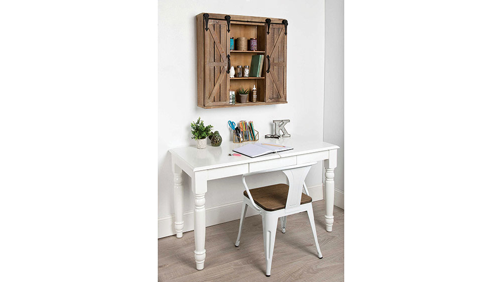 storage cabinet with barn doors
